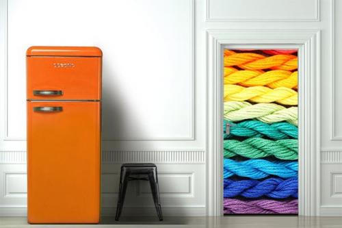 stickers de porte trompe l 39 oeil izoa. Black Bedroom Furniture Sets. Home Design Ideas