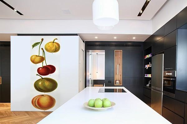 Papier peint vintage fruits izoa - Papier peint retro design ...