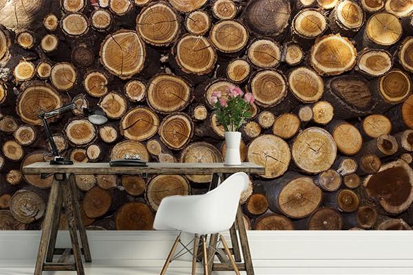 poster mural st res de bois izoa. Black Bedroom Furniture Sets. Home Design Ideas