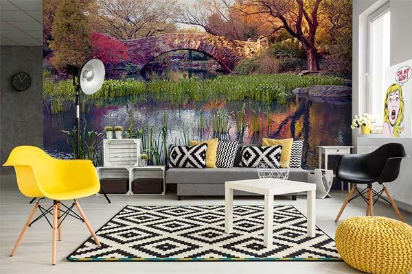 poster xxl d cor bois izoa. Black Bedroom Furniture Sets. Home Design Ideas