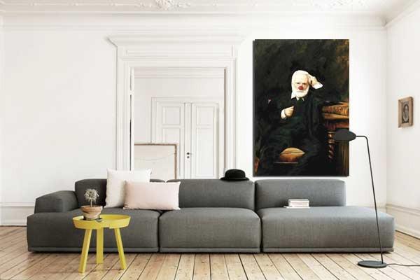 tableau moderne victor hugo izoa. Black Bedroom Furniture Sets. Home Design Ideas