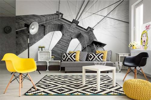 papier peint new york izoa. Black Bedroom Furniture Sets. Home Design Ideas