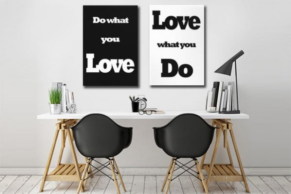 Toile déco diptyque Do what you Love