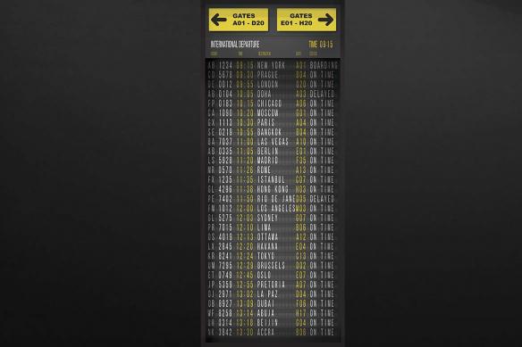 Sticker pour porte Panneau Aéroport