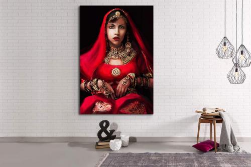 Tableau mural Femme Indienne