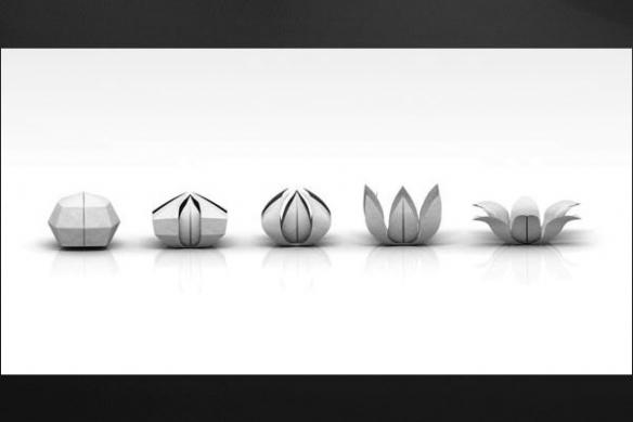 Tableau decoration fleur  kirigami gris