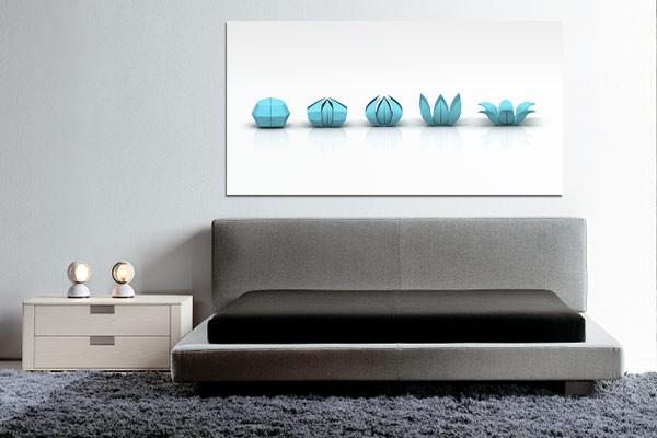 Tableau deco origami by jonathan berne izoa for Cadre decoratif pour salon