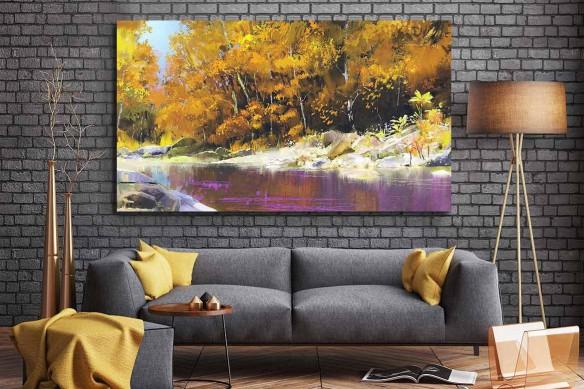 Tableau mural Etang jaune