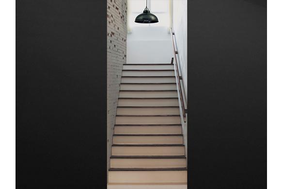sticker porte trompe l'oeil escaliers