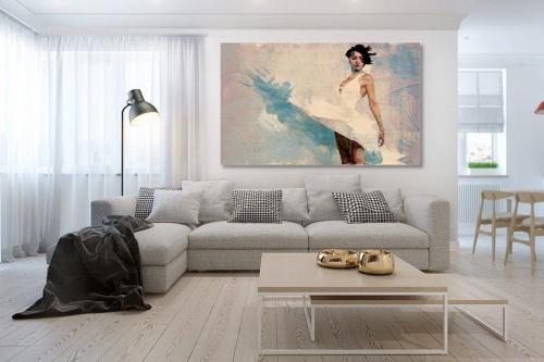Cadre déco salon contemporain Eva danseuse