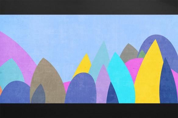 Toile abstraite Stobey violet