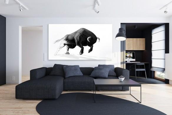 Tableau moderne Taureau