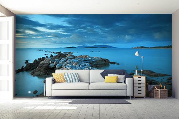 Poster géant Mur de pierres Marin