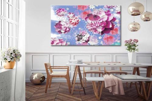 Toile contemporaine colorée Lotus Graphique