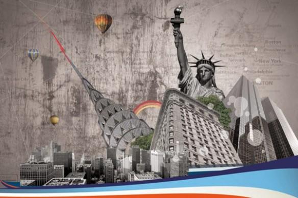 Tableau xxl déco New York retro