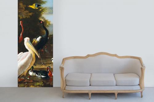 Papier peint trompe l'oeil romantique Pelican