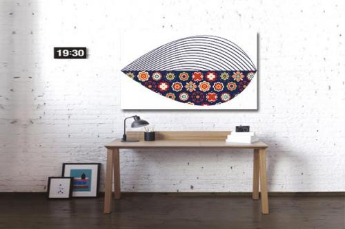 tableau moderne coquillage scandinave izoa. Black Bedroom Furniture Sets. Home Design Ideas