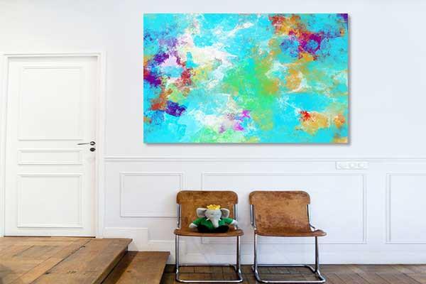 tableau abstrait color exodus izoa. Black Bedroom Furniture Sets. Home Design Ideas