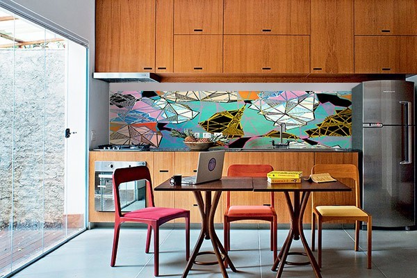 D coration murale cr dence larimar izoa - Credence autocollant cuisine ...