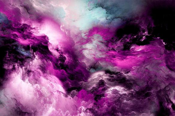 Tableau moderne Starlight  violet