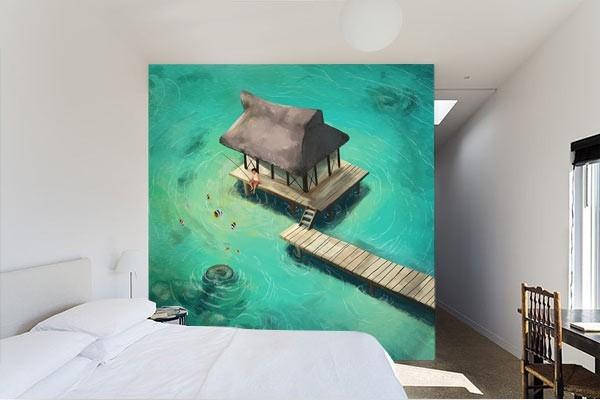 Tapisserie murale un coin de paradis izoa for Tapisserie murale de luxe