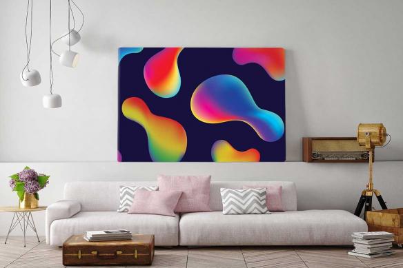 Tableau abstrait coloré Hypnotic
