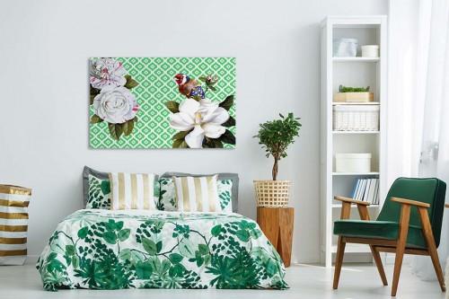 tableau moderne mon ami l oiseau izoa. Black Bedroom Furniture Sets. Home Design Ideas