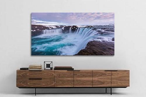 toile moderne paysage haut d bit izoa. Black Bedroom Furniture Sets. Home Design Ideas