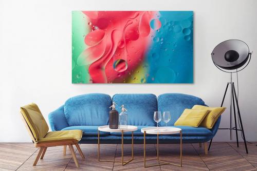 Tableau décoration abstrait Water drops