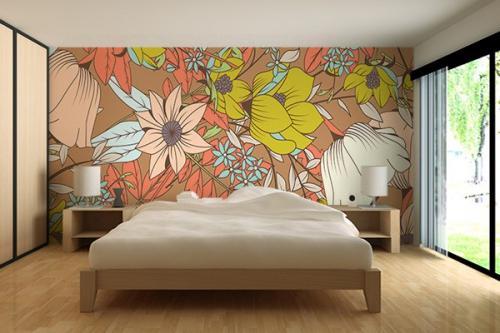 Papier peint chambre beige Intempestif
