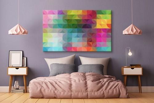 Tableau abstrait coloré Saperlipopette