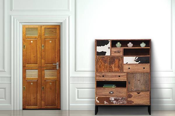 poster porte vestiaire en bois izoa. Black Bedroom Furniture Sets. Home Design Ideas
