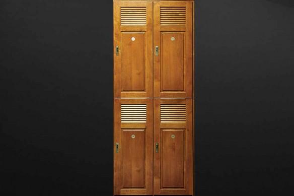 sticker porte vestiaire en bois