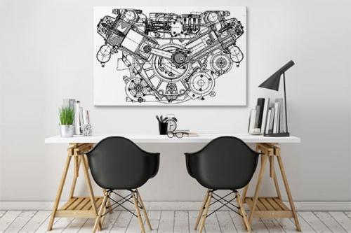 Tableau Plan moteur mécanique