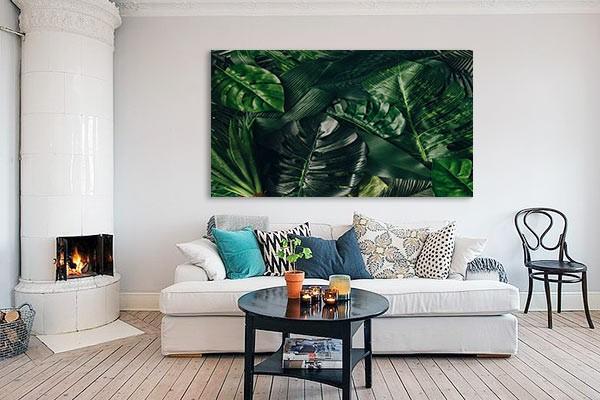 Tableaux tableau nature tableau trompe l il feuillage - Tableau ambiance et style ...
