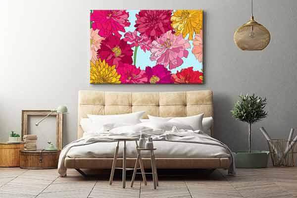 tableau moderne color papillonner izoa. Black Bedroom Furniture Sets. Home Design Ideas