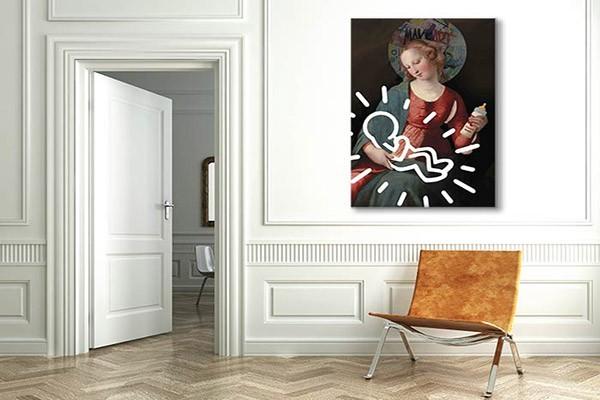 tableau contemporain madone izoa. Black Bedroom Furniture Sets. Home Design Ideas
