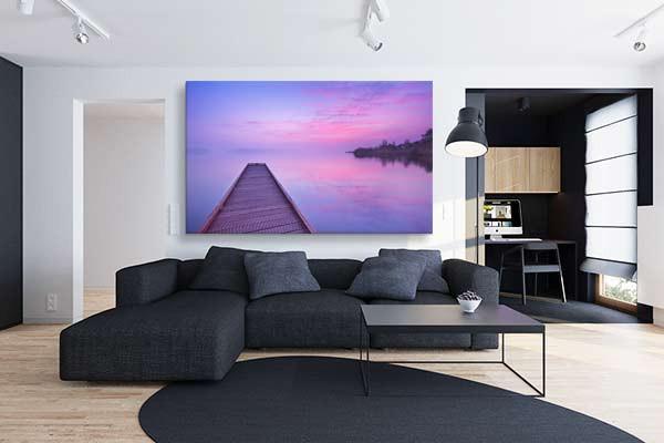 tableau paysage grand format far away izoa. Black Bedroom Furniture Sets. Home Design Ideas