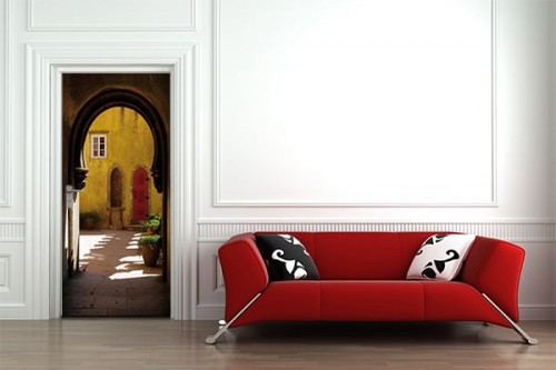 sticker porte chambre izoa. Black Bedroom Furniture Sets. Home Design Ideas