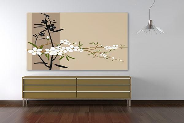 tableau japan flower izoa. Black Bedroom Furniture Sets. Home Design Ideas