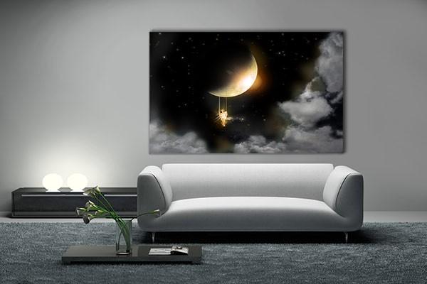 tableau d coration pleine lune par marion lechat izoa. Black Bedroom Furniture Sets. Home Design Ideas