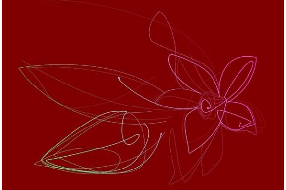 Tableau Fleur mural Vanille rouge