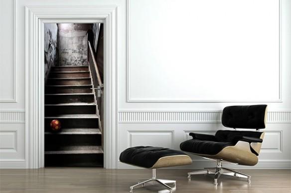 Stcker trompe oeil escalier
