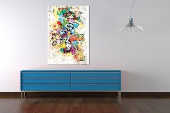 Tableau abstrait Méli Melo pour une déco murale original