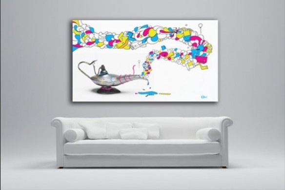 tableau contemporain Aladin