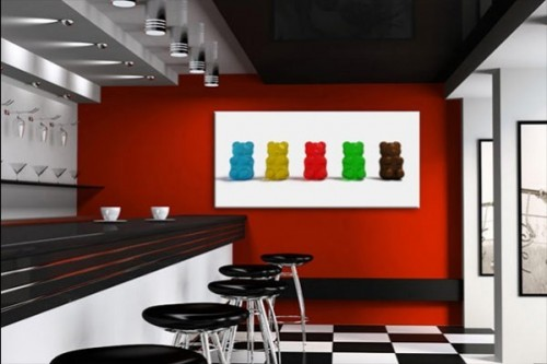 Tableau design bonbon ourson izoa - Tableau original design ...