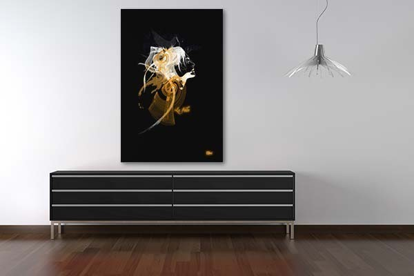 tableau contemporain silhouette izoa. Black Bedroom Furniture Sets. Home Design Ideas