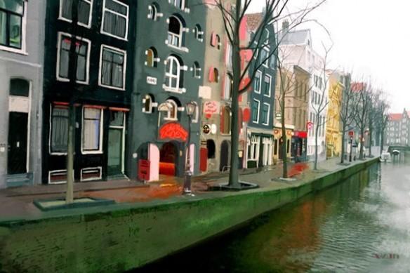 toile grand format Amsterdam