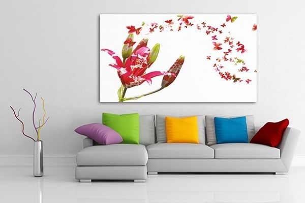 Tableau d co papillons izoa for Tableau pour chambre romantique