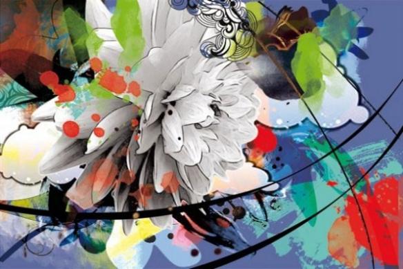 décoration murale fleur d'été